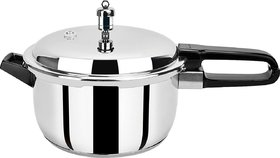 Pristine Induction Base Stainless Steel Pressure Cooker, 7 L, Silver