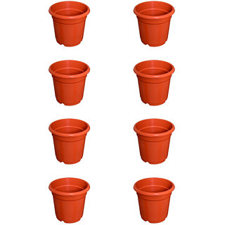 Flower Pots 8 inch Set of 8, Plant Container ( External Height - 20 cm)