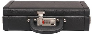 OBANI Faux Leather Briefcase Black TB92