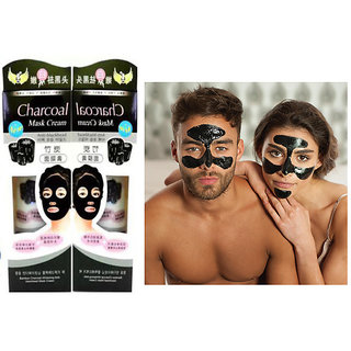 CHARCOAL MASK CREAM FOR MEN and WOMEN , BLACK HEAD REMOVE, DEEP CLEANSING, OIL CONTROL (130 g) pack 2