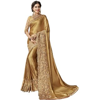eca047dd5b Buy Triveni Gold Georgette Festive Embroidered Saree Online @ ₹2949 from  ShopClues