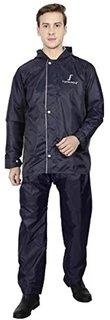 EXCLUSIVE Men's Rain wear Black  Silver Reversible