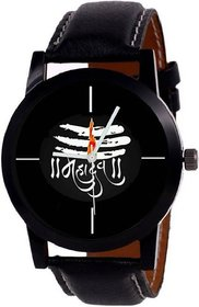 KDS just like New Stylish Mahadev Leather Strap watch for Boys  Girls Watch - For Men  Women Watch - For Bo