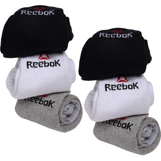 Reebok Unisex Ankle Socks - Pack of 6