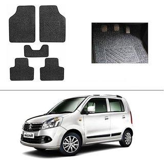 KunjZone Best Quality Set of 5 Carpet Grey Car Foot Mat / Car Floor Mat for Maruti Suzuki Wagon R