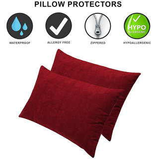 Dream Care Waterproof Pillow cover/Pillow Protector 18 x 28 inch, Set of 2, Golden
