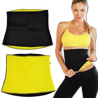 Neoprene Plain Black Yellow Upper Unisex Shaping Belt/Tummy Tucker