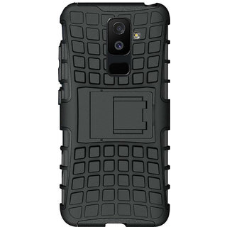 official photos fb542 d2bcf Samsung Galaxy J8 2018 Defender Back Cover Tough Hybrid Armour Shockproof  Cover By Ved Sales