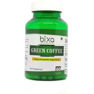 Green Coffee Bean Extract 50 Chlorogenic acid 60 Veg capsules (450mg) Chlorogenic acid  Weight Loss Supplement  Fat Burner  For Immunity, Stamina, Energy  Sugar control  Bixa Botanical