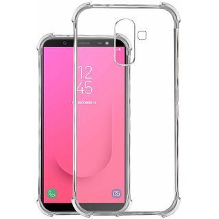 huge selection of 2bd33 208ce Silicon Shockproof Corner Back Case Cover For Samsung Galaxy J8  (Transparent) By Ved Sales