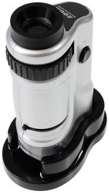 TARGET PLUS- 20X 40X Zoom Microscope Portable Detachable Ultralight Magnifying Glass Zoom Microscope with Two Slides