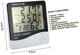 TARGET PLUS- Hygro Thermometer  Monitor Room Temperature, Humidity continuously + with Clock