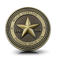 DY 1941-2016 75 Anniversary Star Villys Overland TRAIL RATED Vintage Badge Car Styling Sticker for Jeep