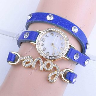 Women Blue Love Fancy Look Analog love watches women watches ladies watches girls watches designer watches pink color