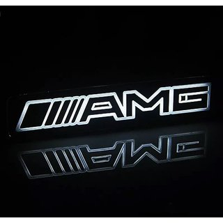 DY AMG Emblem Badge Sticker Led Light Front Grille Grill For Mercedes Benz