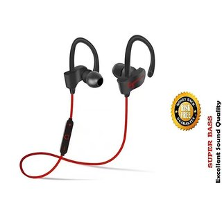 QC-10S jogger Wireless Bluetooth Headphone Red