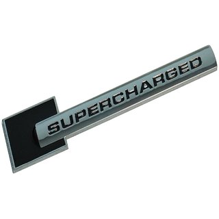 DY 3D Metal Red SUPERCHARGED Car Side Body Trunk Emblem Badge Sticker Decal Audi (Black)