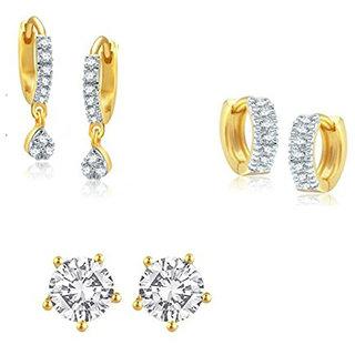 Bhagya Lakshmi Women's Pride AD Stone Earrings For Girls And Women