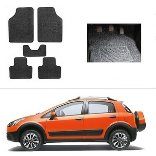 KunjZone Best Quality Set of 5 Carpet Grey Car Foot Mat / Car Floor Mat for Fiat Punto Avventura
