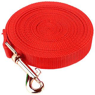Futaba Nylon Adjustable Training Dog Leash - Red - 6m