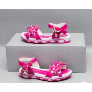 Led Sandle With Butterfly Pink White