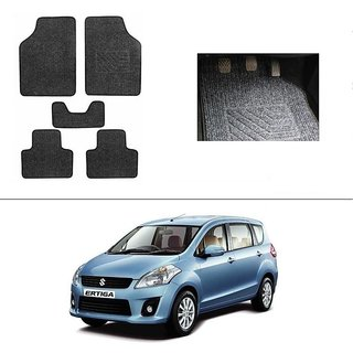 KunjZone Best Quality Set of 5 Carpet Grey Car Foot Mat / Car Floor Mat for Maruti Suzuki Ertiga
