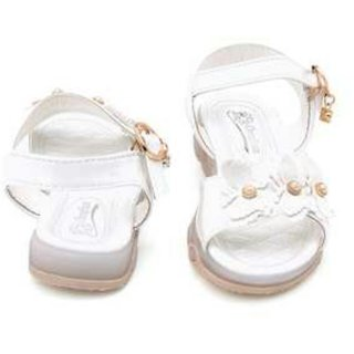 White Led Sandals With Butterfly