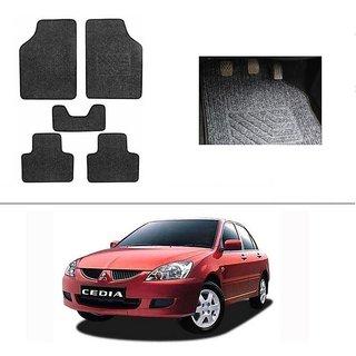 KunjZone Best Quality Set of 5 Carpet Grey Car Foot Mat / Car Floor Mat for Mitsubishi Cedia