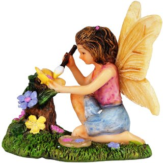 Wonderlnad Miniature fairy garden Fairy painter(7 x 5 x 6 cm)
