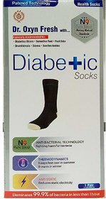 World Class Diabetic Silver Socks With Patented N9 Silver Technology - Useful In Antibacterial, Anti-Odor, Anti-Static