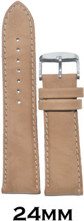 Kolet 24mm Padded leather Watch Strap (Beige)