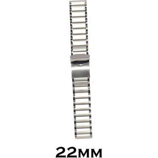 Kolet 22mm Stainless Steel Watch Strap/Band (Silver)