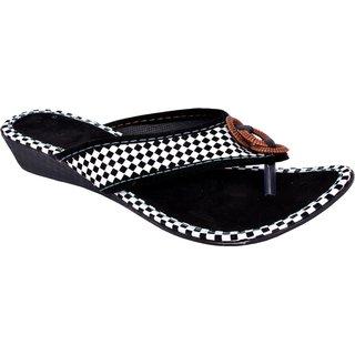 f0152d2b2 Buy GOYAL ENTERPRISES Women s Fashion Rajasthani Black White Chappal ...