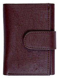 Trendy Trotters Men's Brown Leather 3 Fold Pocket Wallet
