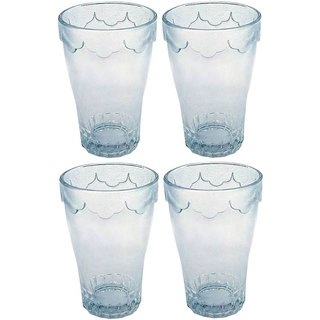 Being Creative Crystal Multipurpose Juice Party Designer  Clear Set Of 4 of 236 ml Glasses