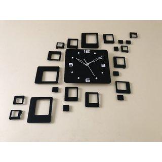 Wall Clock Black Square