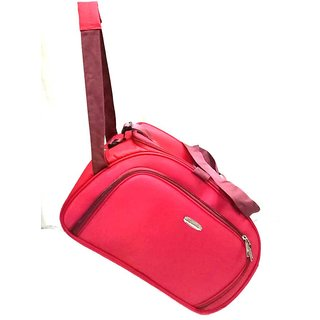 feb8642c959 Travel Soft Case Luggage Bag Red Duffel Bag For Holiday 2 Wheels Traveling  Bag 20 INCH