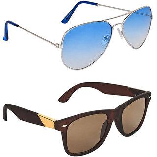 Zyaden Blue Aviator UV Protection Unisex Sunglasses Combo