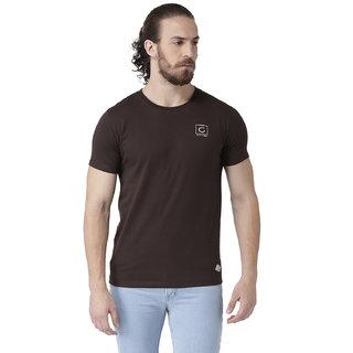 GRIFFEL Men's Basic Solid Half Sleeve Tee'sCoffee
