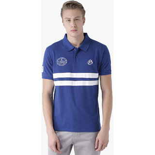 Griffel Men's Basic Solid Royal Polo T-Shirt