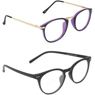 Zyaden Transparent Round UV Protection Unisex Sunglasses Combo