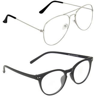 Zyaden Transparent Aviator UV Protection Unisex Sunglasses Combo