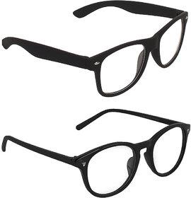 Zyaden Transparent Wayfarer UV Protection Unisex Sunglasses Combo