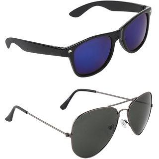 c19fefea0 Buy Zyaden Blue Wayfarer UV Protection Unisex Sunglasses Combo Online - Get  75% Off