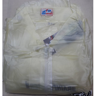RAIN FIGHTER Men's Single Coted Raincoat With Separate Cap (XL Size,Paint 39 Inches,Shirt 30 Inches)