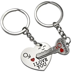 DY Fashion Couples Key Chain Key Ring Ornaments Pendants Decorations Heart And Key