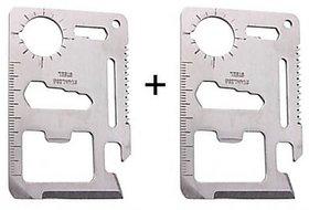 Buy 1 Get 1 Free 11 In 1 Stainless Steel Survival Tool Kit Pocket - B1G11IN1TK