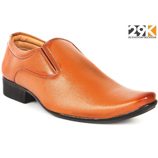 29K Men's Tan Slip-on Formal Shoes