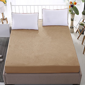 Dream Care Waterproof  Dustproof  Beige Mattress protector(72x78x Skirting  Upto 10) (wxl) for King Size bed-1 pc