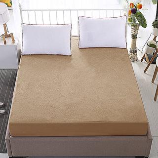 Dream Care Waterproof  Dustproof  Beige Mattress protector(30x72x Skirting  Upto 10) (wxl) for Singe bed-1 pc